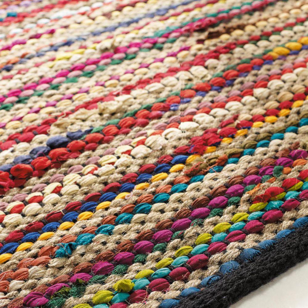 Tapis Tress En Coton Multicolore 140 X 200 Cm Roulotte Maisons Du Monde