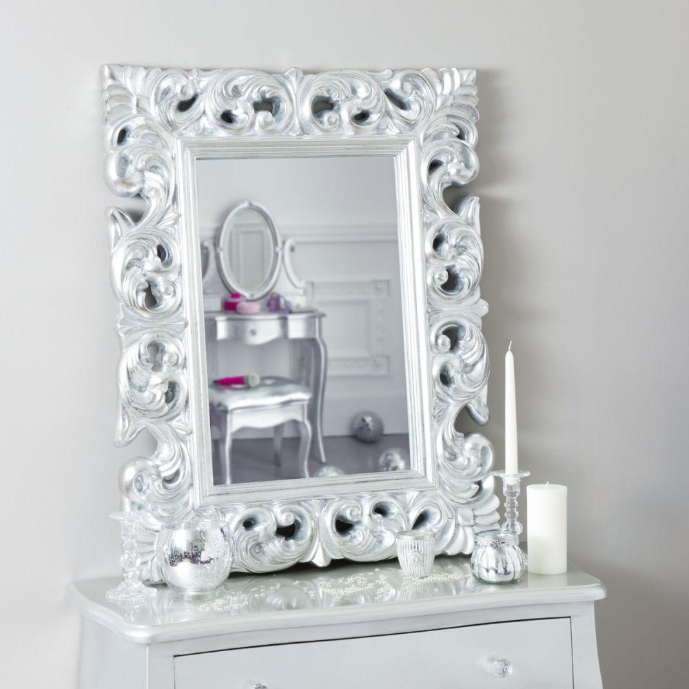 miroir rivoli silver 90x70 maisons du monde. Black Bedroom Furniture Sets. Home Design Ideas