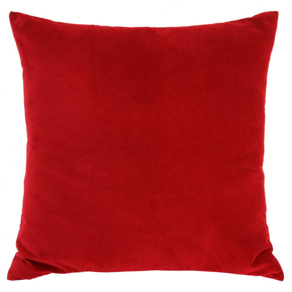 coussin velours rouge. Black Bedroom Furniture Sets. Home Design Ideas