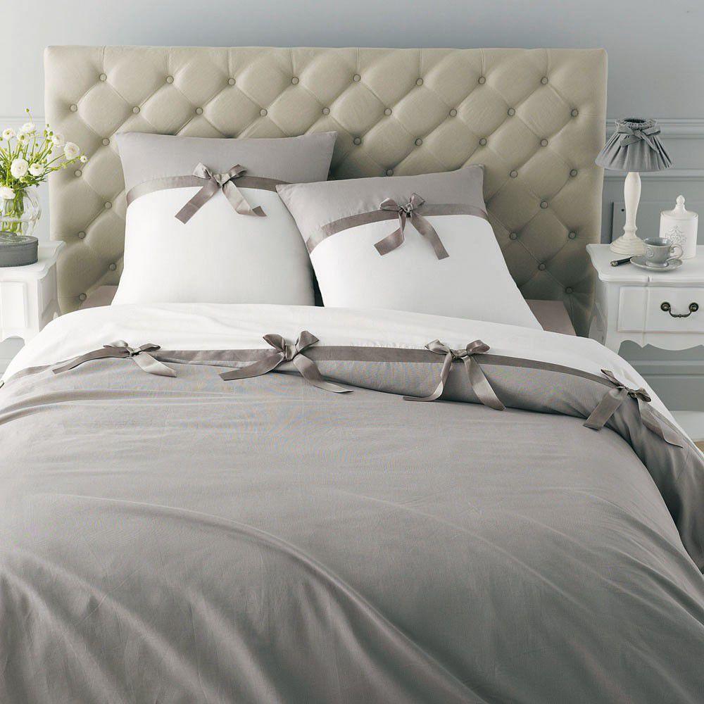 parure n ud gris 260x240 maisons du monde. Black Bedroom Furniture Sets. Home Design Ideas