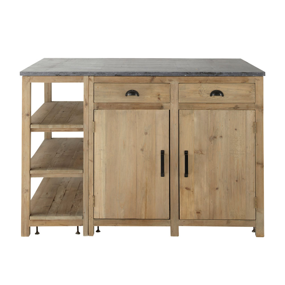 lot central en bois recycl l 145 cm pagnol maisons du monde. Black Bedroom Furniture Sets. Home Design Ideas
