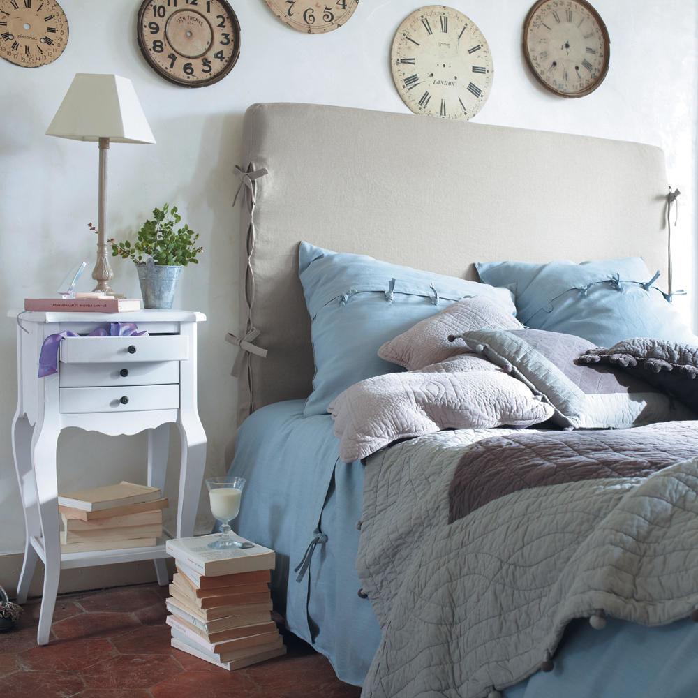 Housse de t te de lit en lin beige l 142 cm dream - Housse tete de lit 140 ...