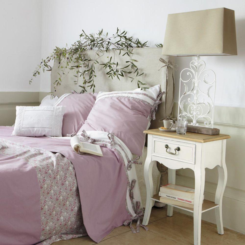 Housse de tête de lit en lin beige L 142 cm Dream