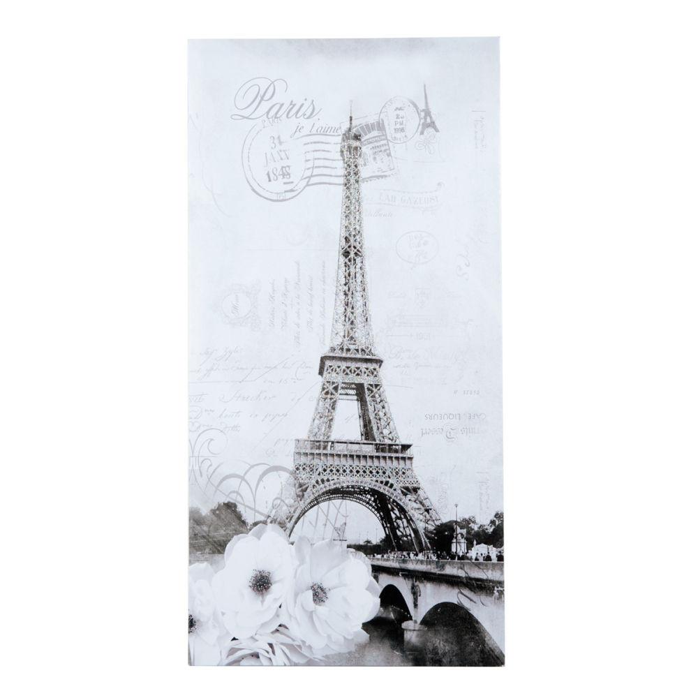 Toile blanche 35 x 70 cm paris aristo maisons du monde - Maison du monde paris 15 ...