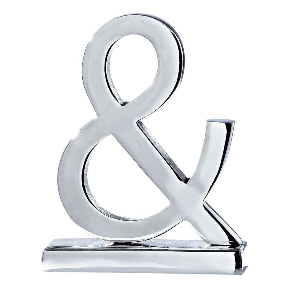 Chrome ampersand symbol maisons du monde for Decoration contemporaine interieur