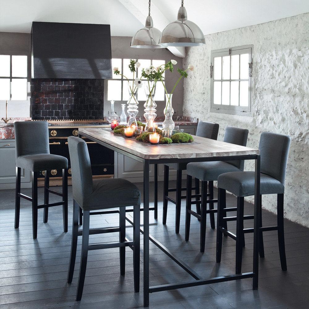 Esstisch hoch long island long island maisons du monde - Table a manger cuisine ...