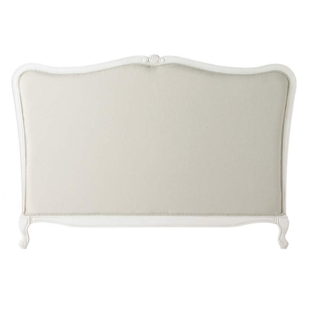 T te de lit en bois massif et coton l 175 cm jos phine maisons du monde - Tete de lit maison du monde 160 ...