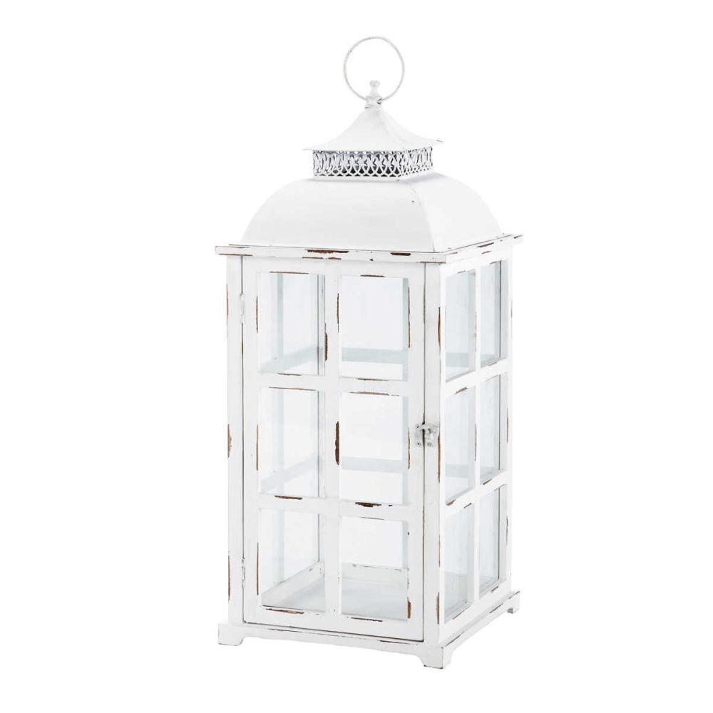 Lanterne blanche marmara maisons du monde - Lanterne exterieur a poser ...