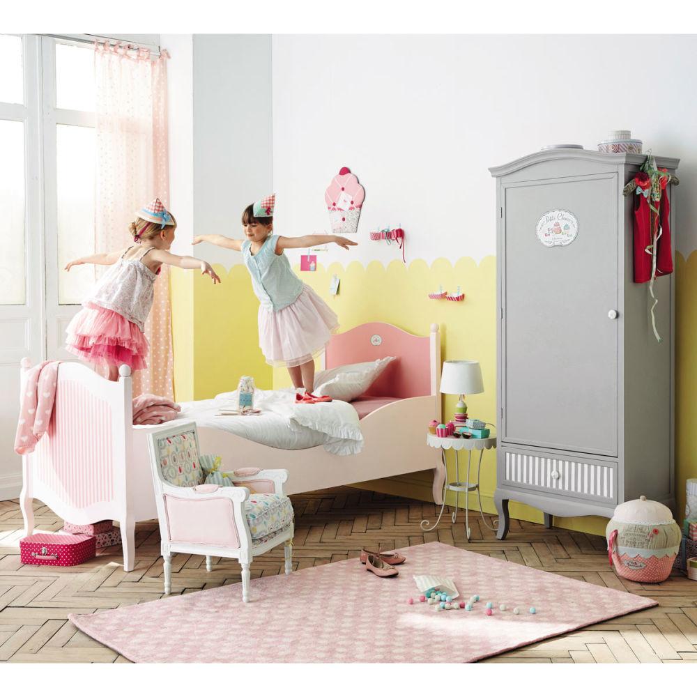 kinder kleiderschrank grau gourmandise gourmandise. Black Bedroom Furniture Sets. Home Design Ideas