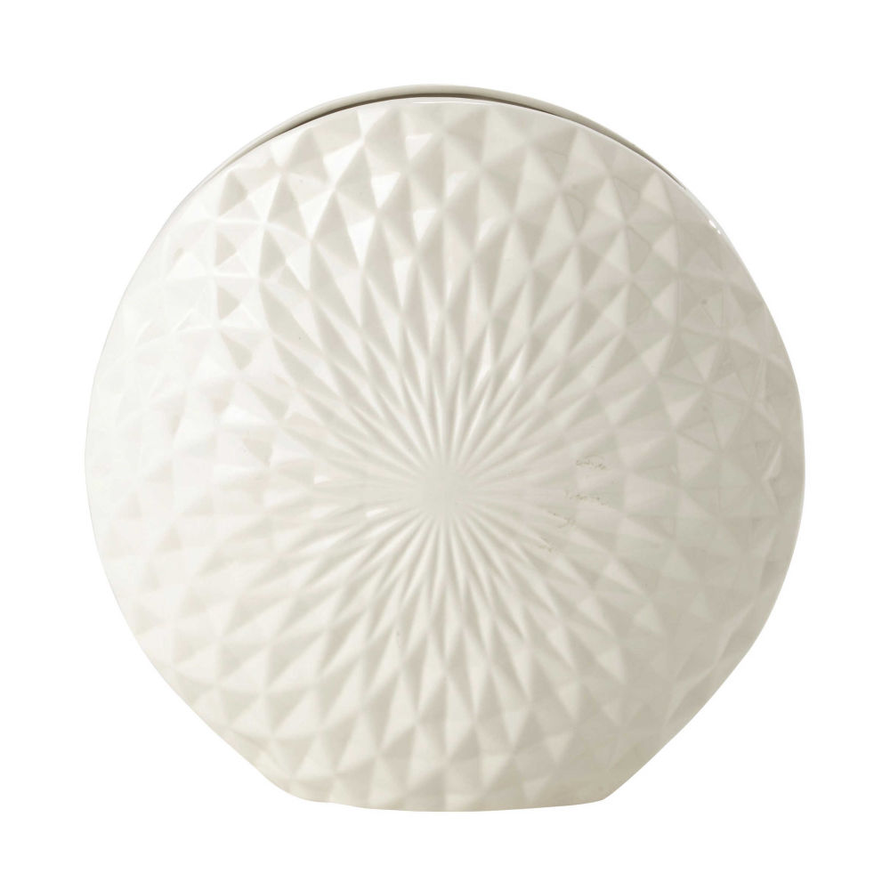 Vase en céramique blanche H 39 cm ALVA | Maisons du Monde