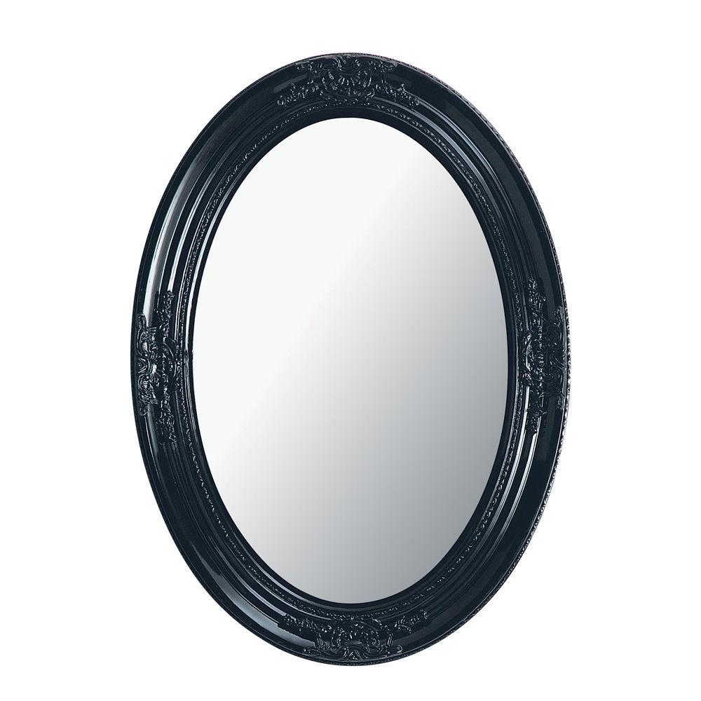 Miroir baroque noir ovale maison design Miroir baroque maison du monde