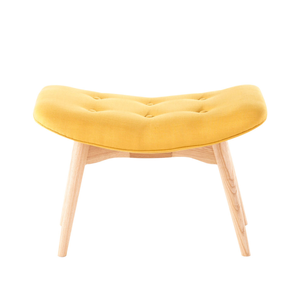 repose pieds vintage jaune iceberg maisons du monde. Black Bedroom Furniture Sets. Home Design Ideas