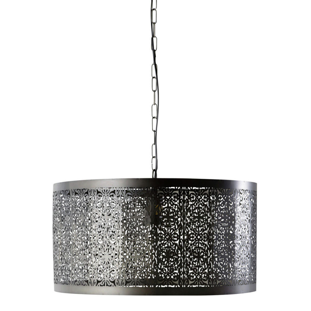 Suspension en m tal cisel noire d 50 cm gaia maisons du monde - Maison du monde suspension ...