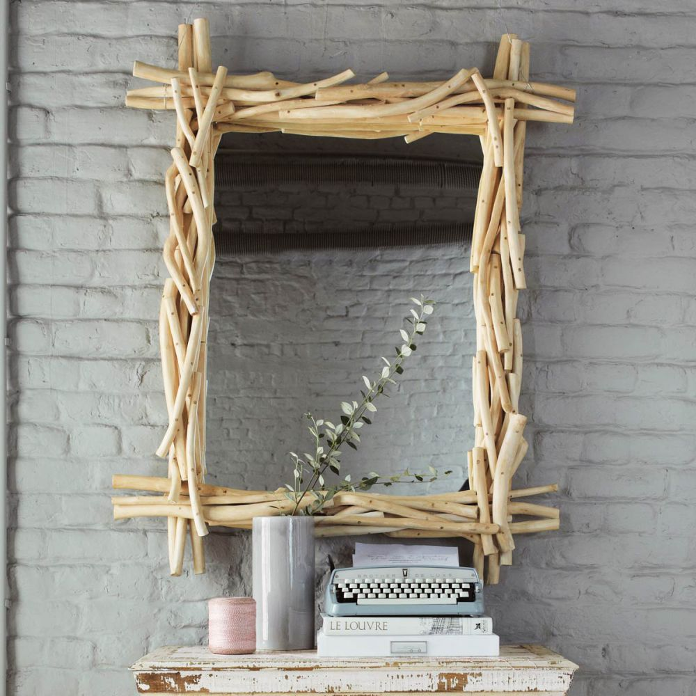 good miroir en bois flotte 4 maisons du monde homeezy. Black Bedroom Furniture Sets. Home Design Ideas