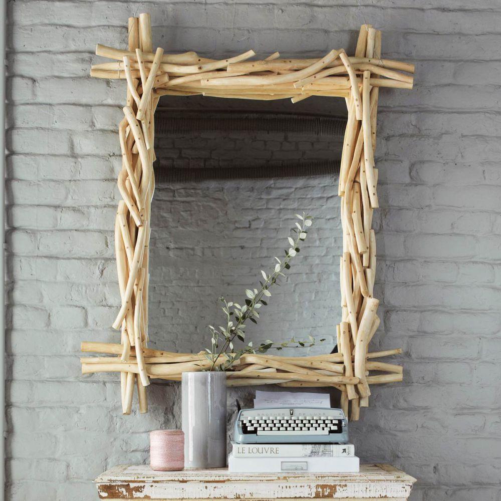 Miroir en bois flott h 113 cm rivage maisons du monde - Grand miroir mural sur mesure ...