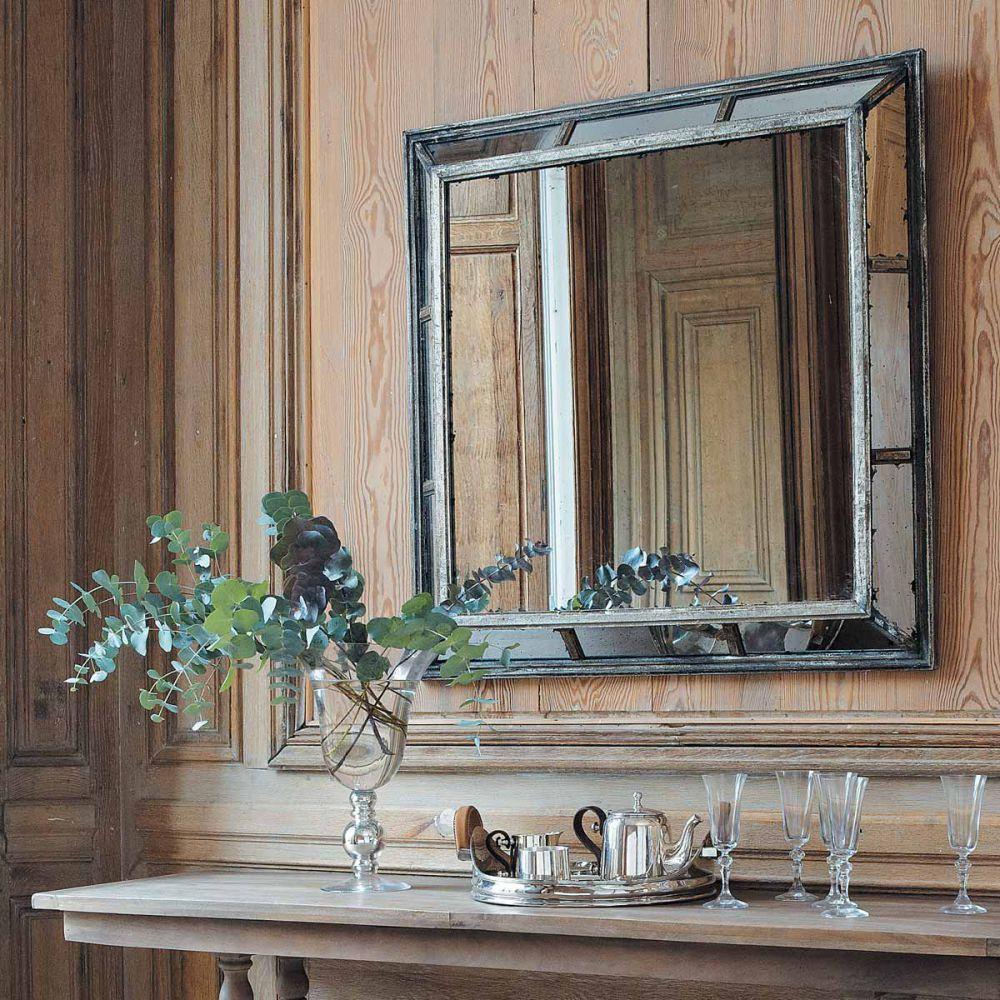 Miroir en m tal effet vieilli h 99 cm concerto maisons for Maison du monde miroir