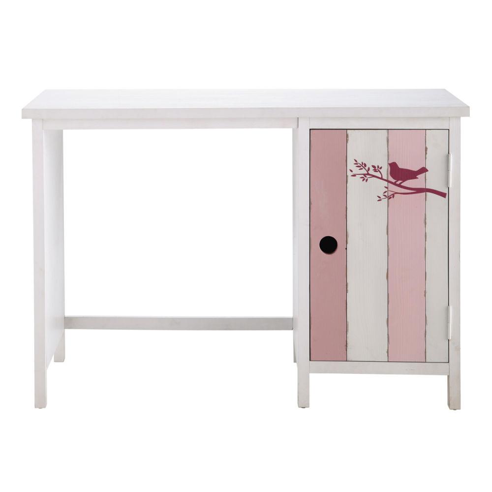 bureau enfant rose et blanc violette maisons du monde. Black Bedroom Furniture Sets. Home Design Ideas