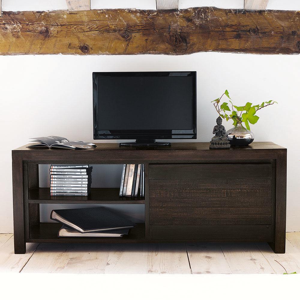 meuble tv bois exotique occasion – Artzein.com