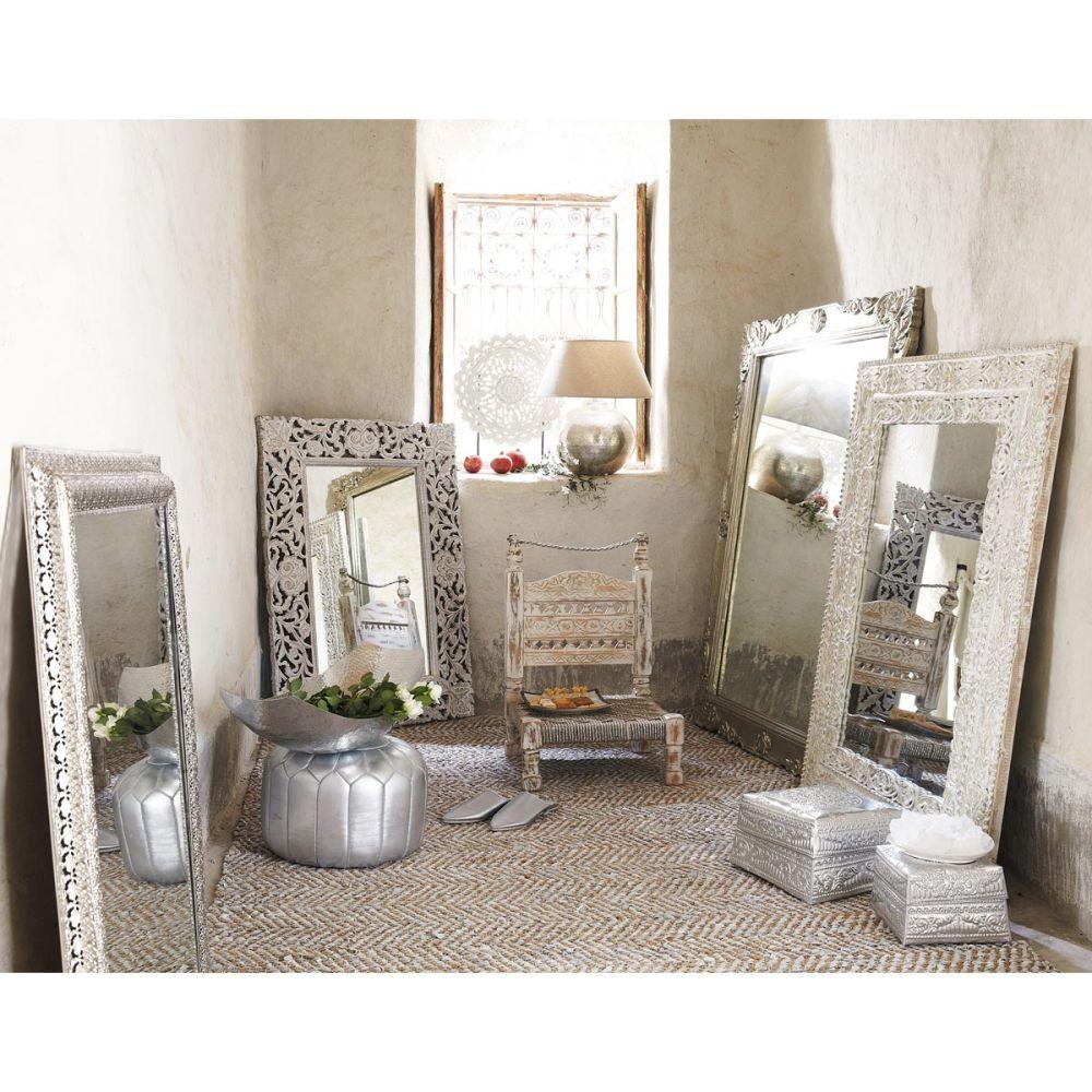Miroir Bois Maison Du Monde : Miroir Blanc