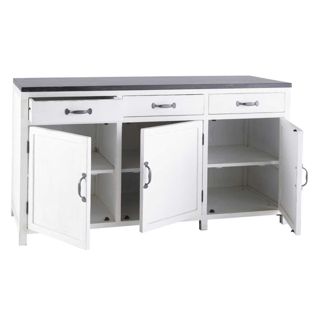 Buffet de cuisine bas 3 portes for Element bas de cuisine