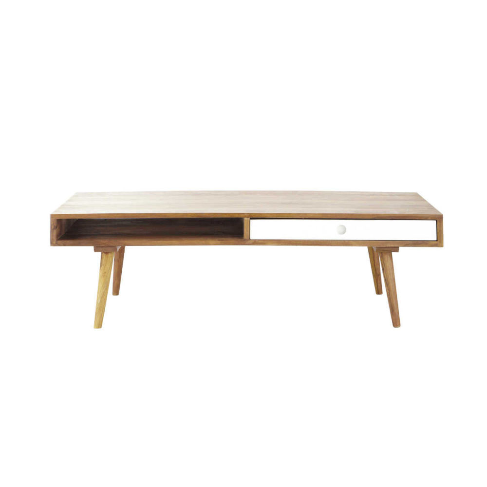 Table basse vintage en bois de sheesham l 120 cm andersen for Table basse maison du monde
