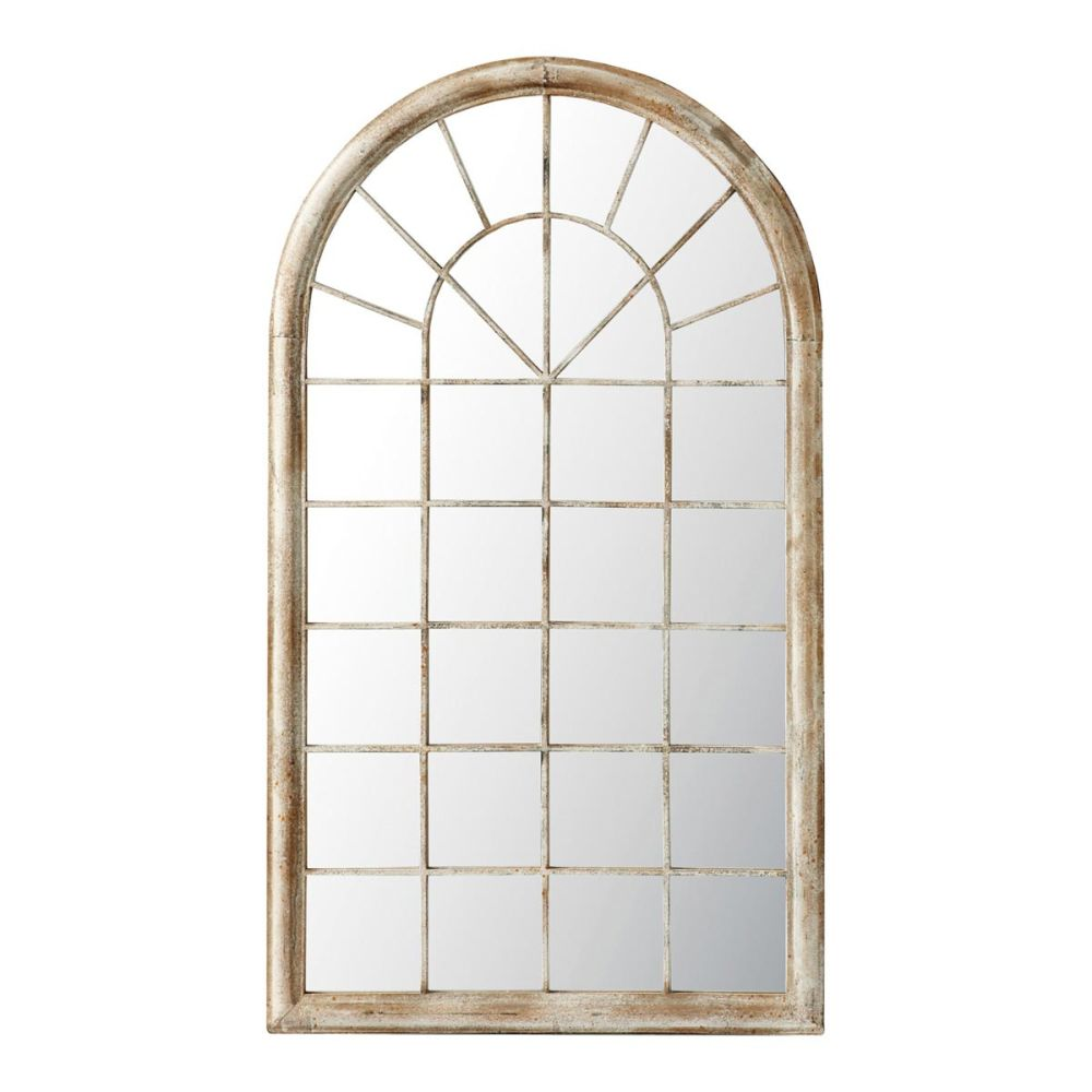 Miroir en m tal marron h 131 cm marcus maisons du monde for Metal miroir