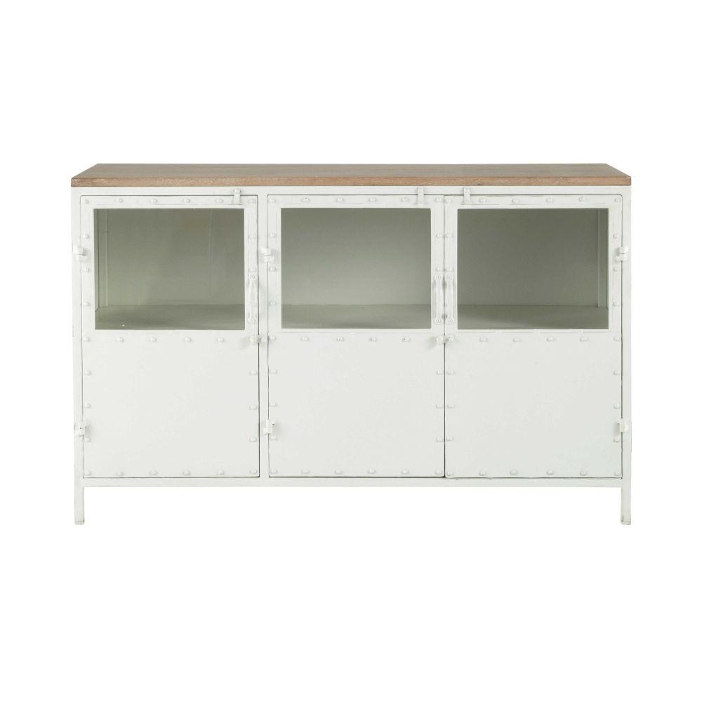 Buffet Vintage Maison Du Monde Elegant Aparador Horizontal  # Meuble Tv Blanc Maison Du Monde