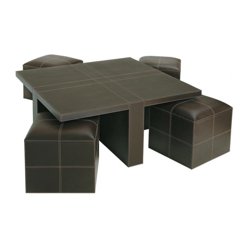 Table basse et ses 4 tabourets soho maisons du monde - Table basse avec tabouret ...
