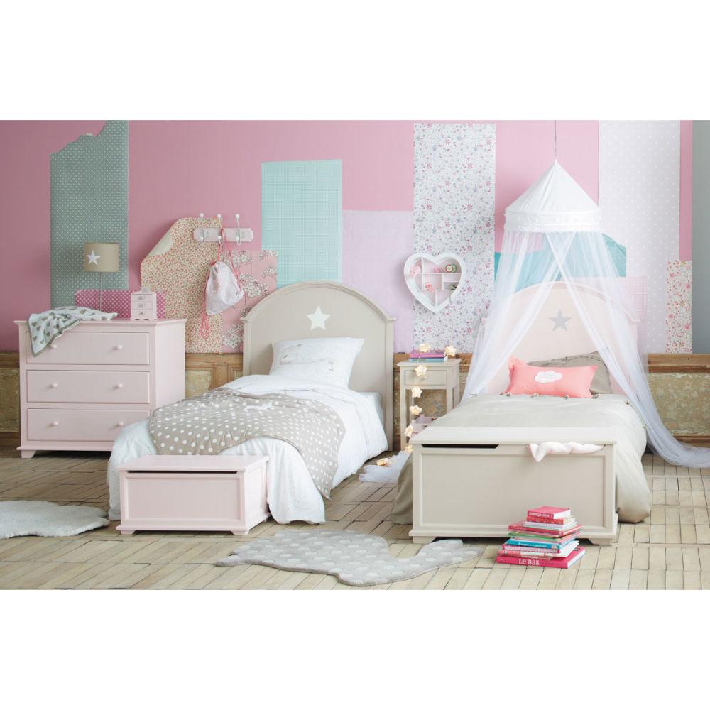 t te de lit enfant 90 cm rose pastel maisons du monde. Black Bedroom Furniture Sets. Home Design Ideas