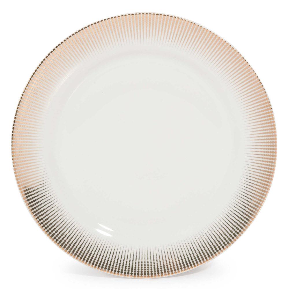 Assiette à dessert en porcelaine D 19 cm VERSAILLES | Maisons du Monde