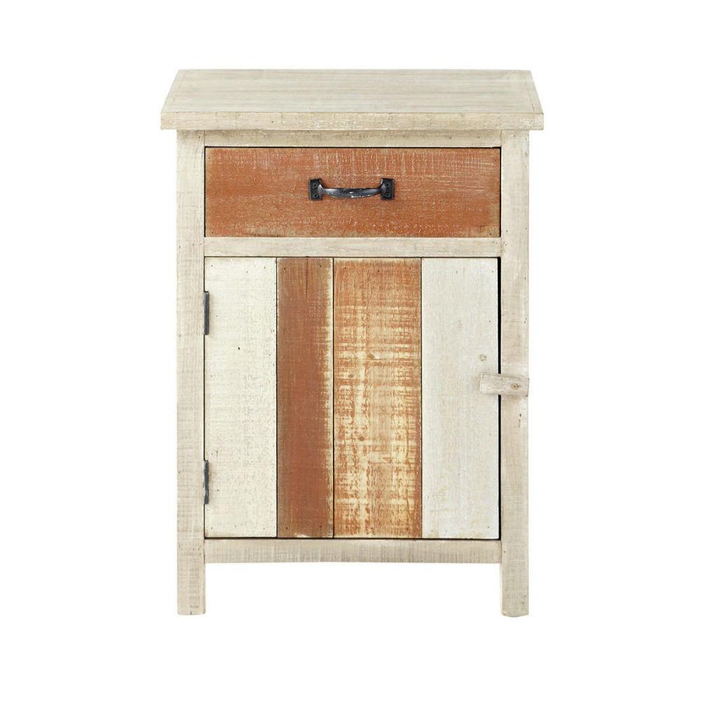 fabulous table de chevet avec tiroir en bois beige l cm noirmoutier maisons du monde with maison. Black Bedroom Furniture Sets. Home Design Ideas