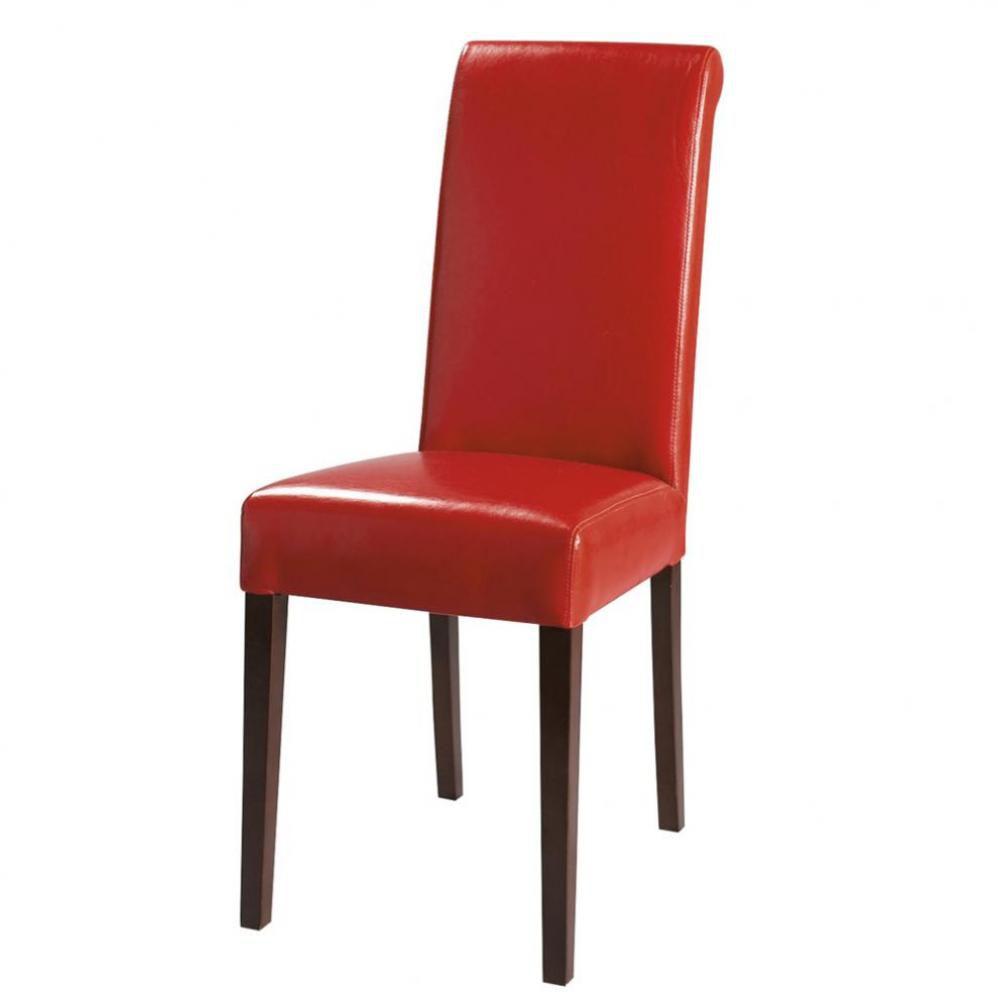 chaise en polyur thane et ch taignier rouge boston. Black Bedroom Furniture Sets. Home Design Ideas