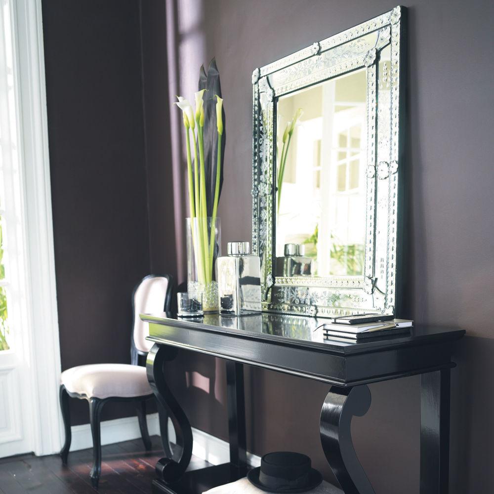 Miroir en verre h 90 cm v nitien maisons du monde Miroir baroque maison du monde