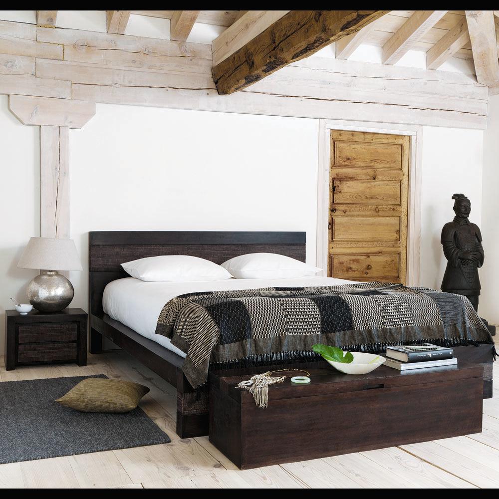 Bout de lit coffre en manguier massif l 120 cm java - Lampe bouddha maison du monde ...