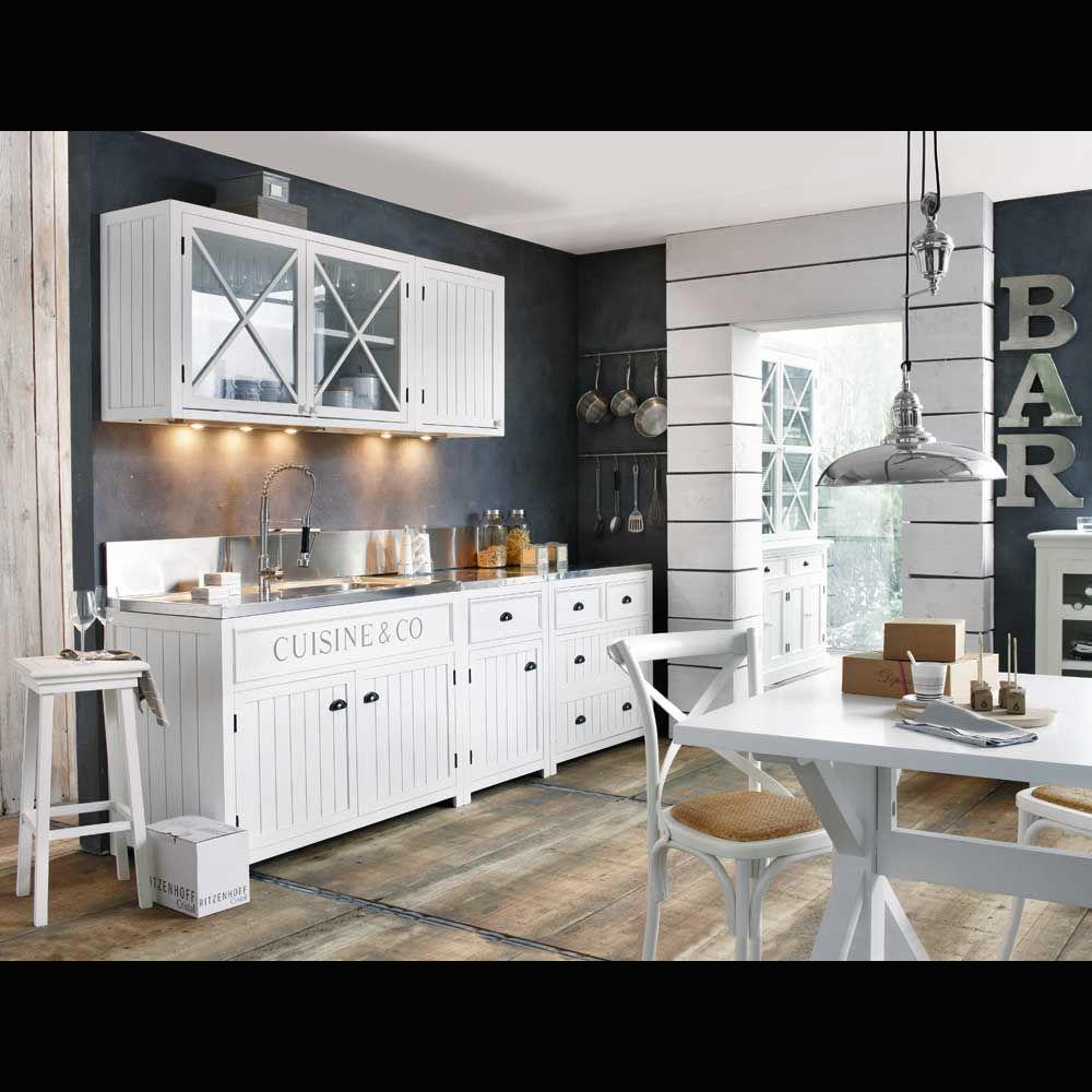 cocina elemento de pared 120 newport newport maisons du monde. Black Bedroom Furniture Sets. Home Design Ideas