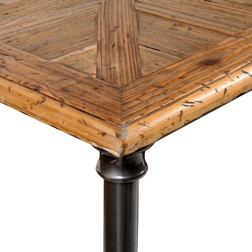 Table basse en bois recycl et m tal l 135 cm fontainebleau maisons du monde - Tables basses rectangulaires ...