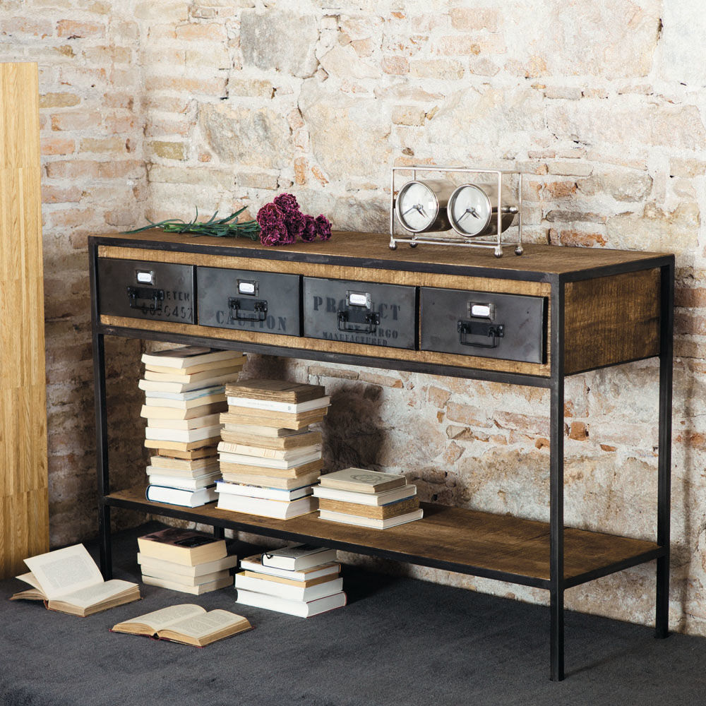 Total look loft - Console metal industriel ...