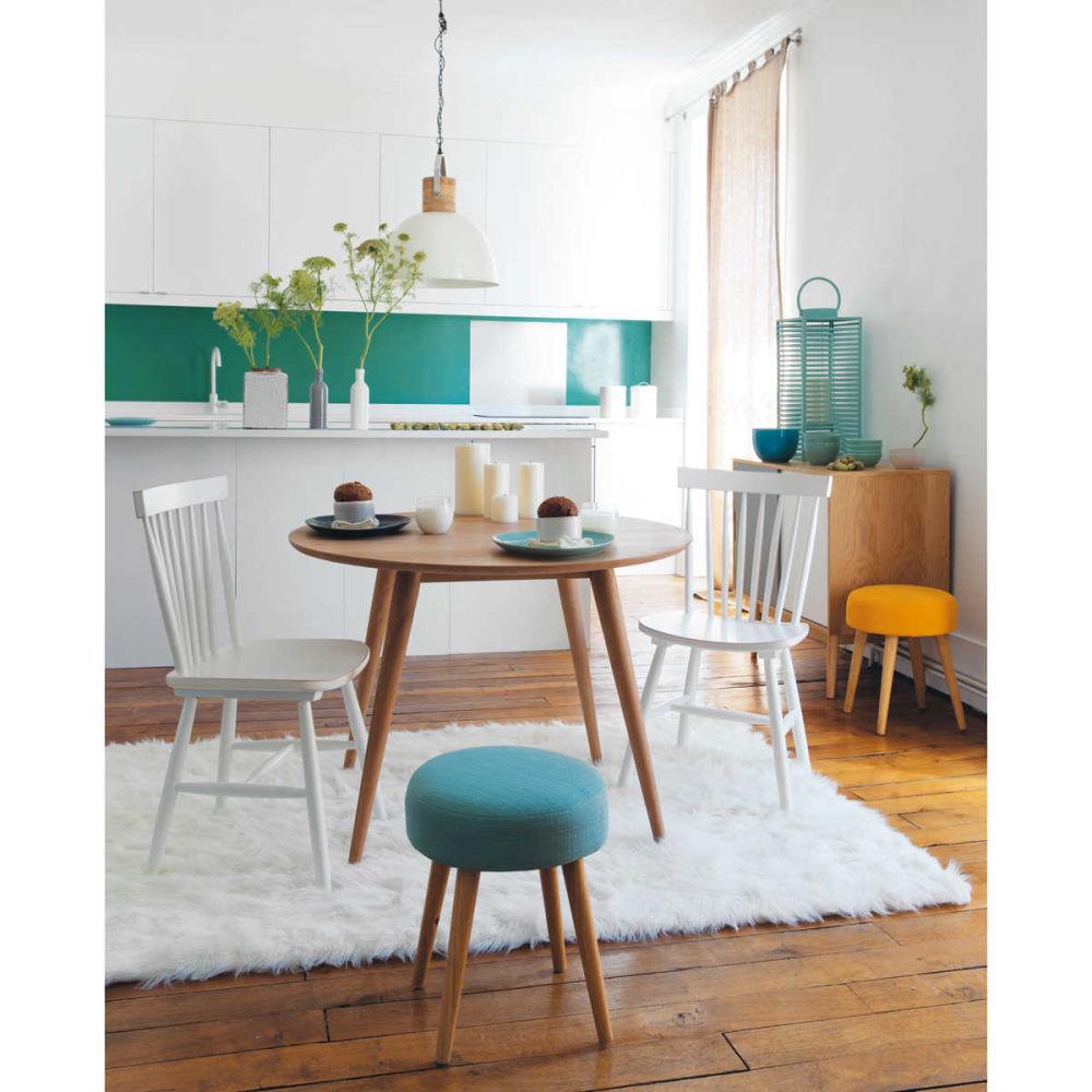 Chaise vintage en h v a blanche fjord maisons du monde - Maisons du monde chaises ...