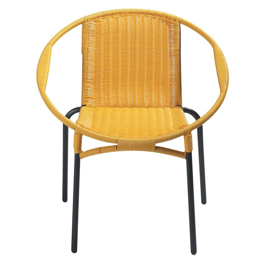 fauteuil de jardin rond jaune rio maisons du monde. Black Bedroom Furniture Sets. Home Design Ideas