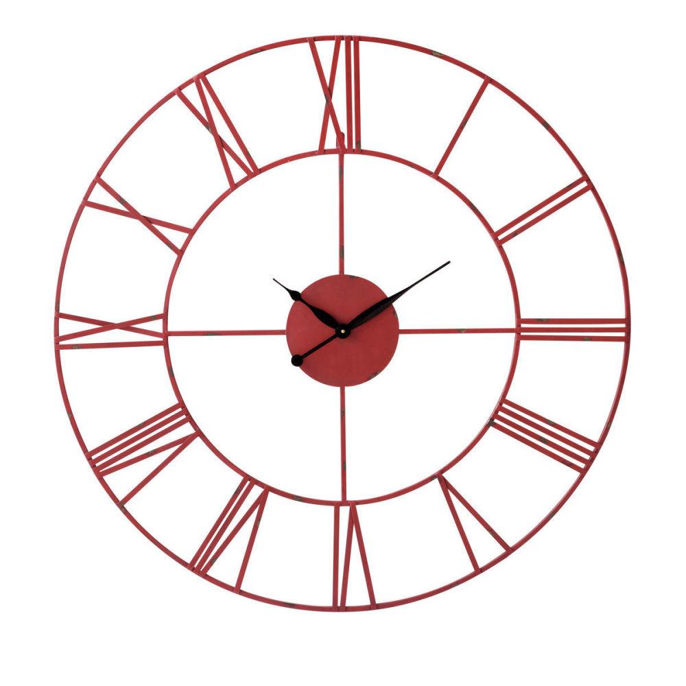 horloge indus rouge sirius maisons du monde