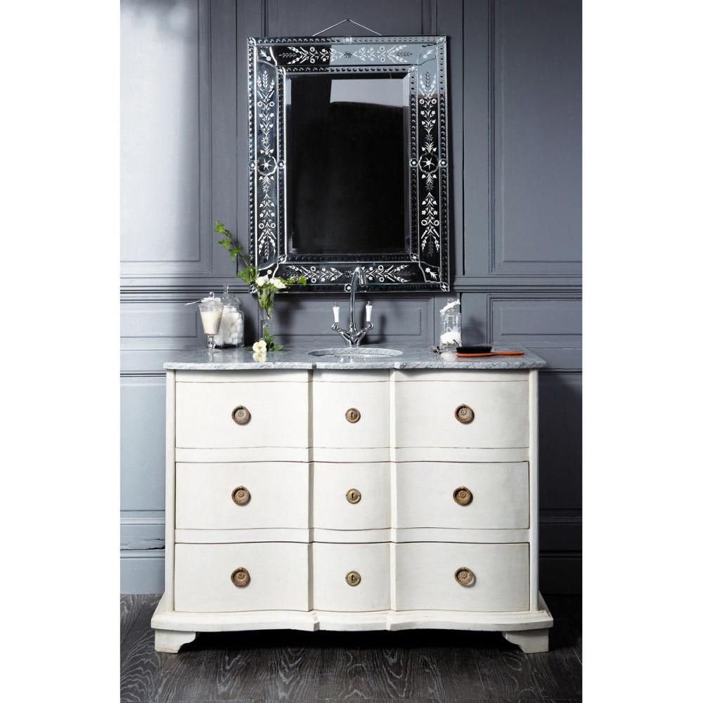 baño › Cuarto de baño gris claro EUGENIE  Mueble Baño Gris Perla