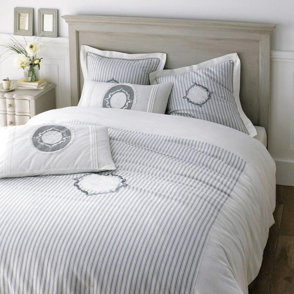 parure housse de couette 260x240 4 taies d 39 oreiller elegante. Black Bedroom Furniture Sets. Home Design Ideas
