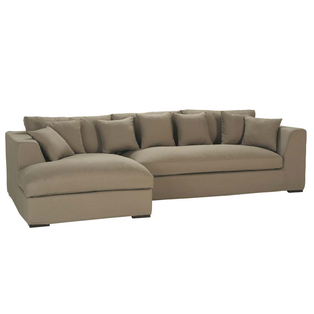 5 seat Corner Sofa In Taupe Long Island