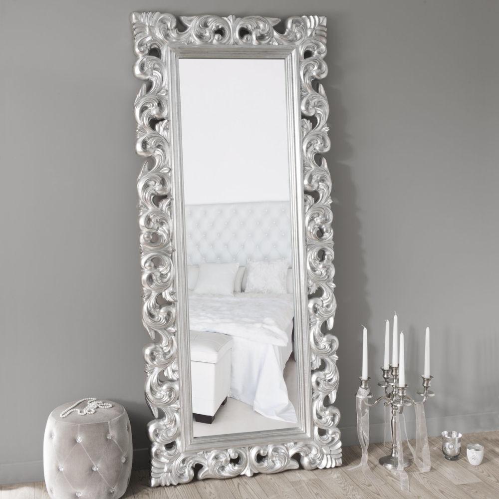 Miroir rivoli silver 190x80 maisons du monde for Miroir industriel maison du monde