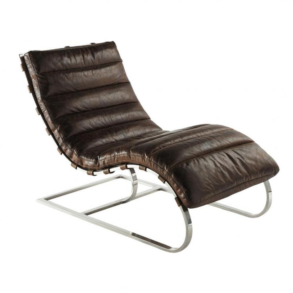Canape Chien Maison Du Monde fauteuil en cuir marron freud | maisons du monde