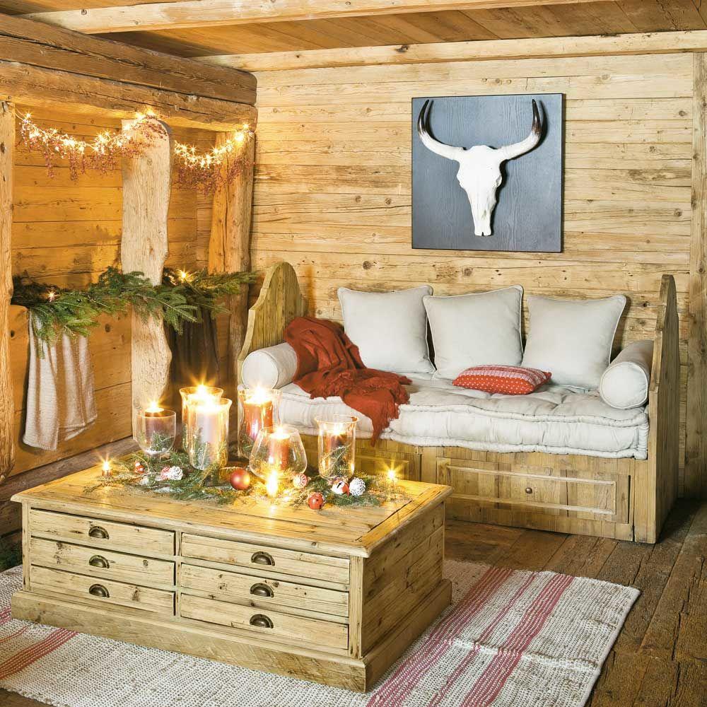 D coration murale troph maisons du monde - Ideen schlafzimmer einrichtung stil chalet ...