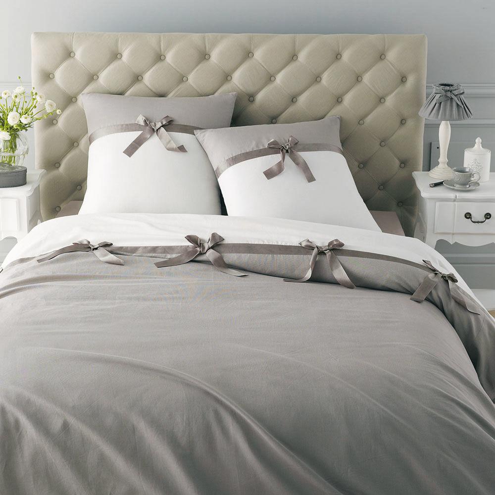T te de lit capitonn e vintage en lin l 142 cm chesterfield maisons du monde - Tete de lit chesterfield ...