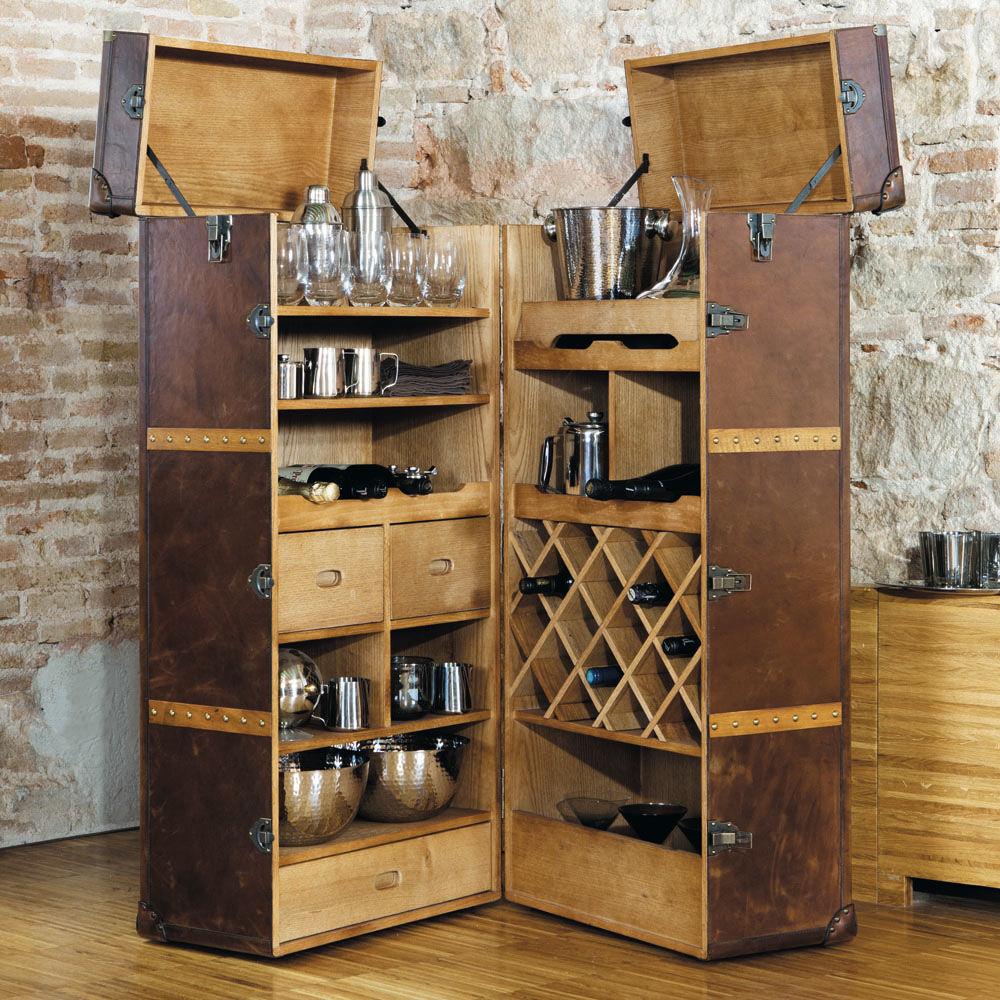 Meuble de bar avec tiroirs en bois L 60 cm Jules Verne  Maisons du