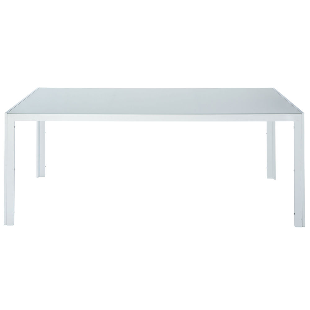 table de jardin rectangulaire blanche l 200cm santorin. Black Bedroom Furniture Sets. Home Design Ideas