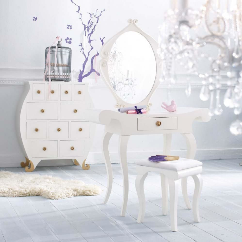 White vanity affordable and cute vanities for Miroir du monde